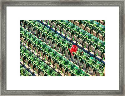 The Red Seat At Fenway Park I Framed Print by Clarence Holmes