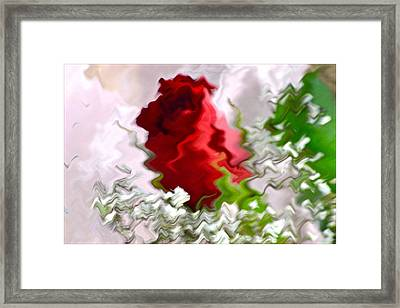 The Red Sign Framed Print by Sonali Gangane