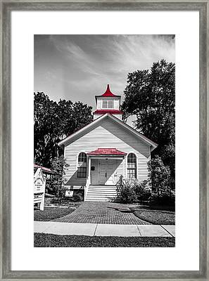 The Red Steeple Framed Print by Steven  Taylor