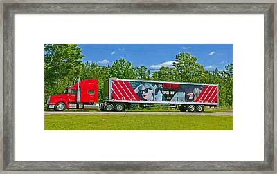 The Red Tour Truck Framed Print by Andy Lawless