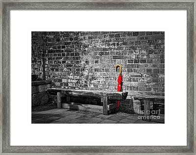 The Red Umbrella Framed Print by Kaye Menner
