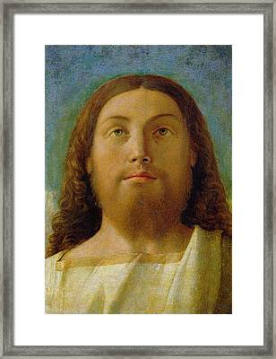 The Redeemer Framed Print by Giovanni Bellini