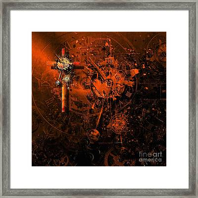 The Redemption Of The Technical And Digital World Framed Print by Franziskus Pfleghart