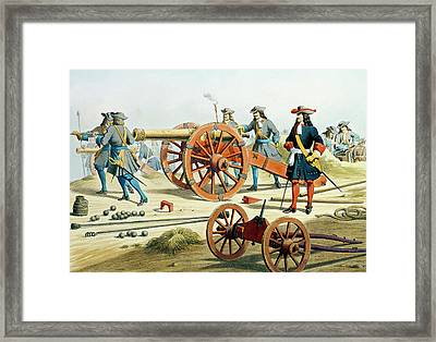 The Regiment Of The King's Fusilliers Framed Print by French School