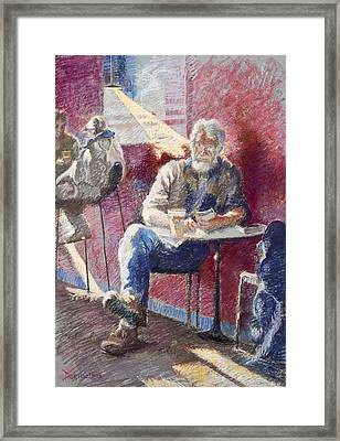The Regular Framed Print by Ellen Dreibelbis