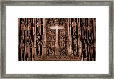 The Renaissance Cross In Church Framed Print by Dan Sproul