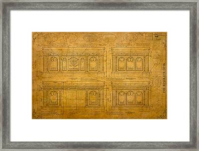 The Resolute Desk Blueprints / Scrolled Document Framed Print by Kenneth Perez