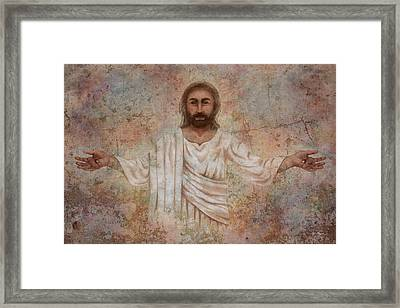 The Resurrection And The Life Framed Print by April Moen