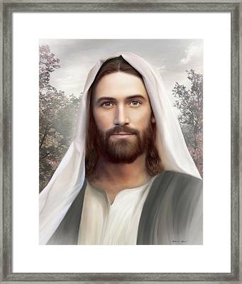 The Resurrection And The Life Framed Print by Brent Borup