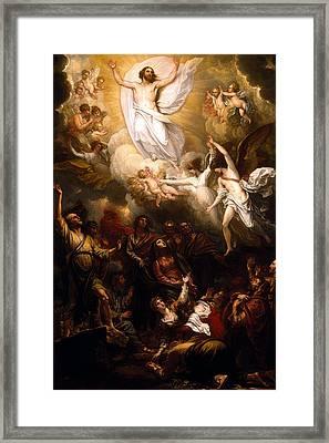 The Resurrection Framed Print by Munir Alawi