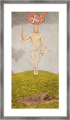 The Resurrection Of Christ Framed Print by Hans Thoma