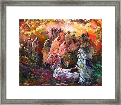 The Resurrection Of Lazarus Framed Print by Miki De Goodaboom