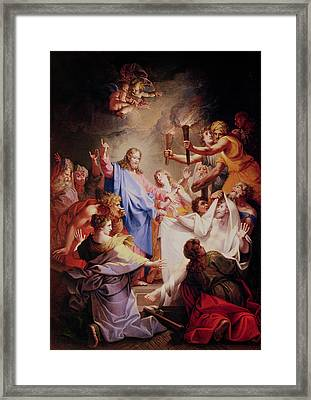 The Resurrection Of Lazarus  Framed Print by Jean-Baptiste Corneille