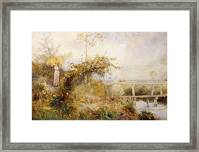 The Return From The Harvest Field Framed Print by John William North