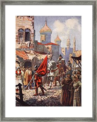 The Return Of Ivan The Terrible Framed Print by John Harris Valda