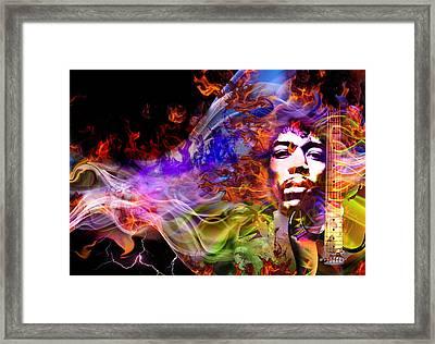 The Return Of Jimi Hendrix Framed Print by Mal Bray