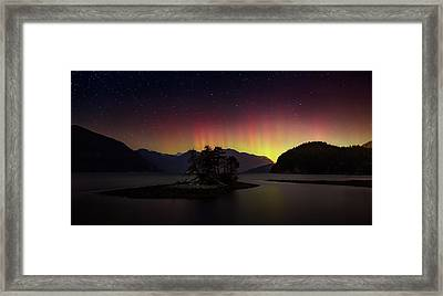 The Return Of The Aurora Borealis Framed Print by Alexis Birkill