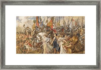 The Return Of The Victors Framed Print by Sir John Gilbert