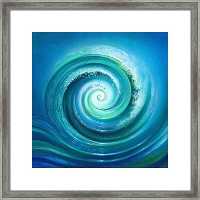 The Return Wave Framed Print by Anna Ewa Miarczynska