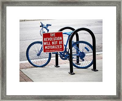 The Revolution Will Not Be Motorized Framed Print by Rona Black