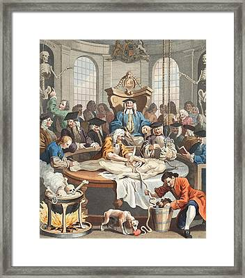The Reward Of Cruelty, From The Four Framed Print by William Hogarth