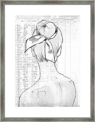 The Ribbon Framed Print by H James Hoff