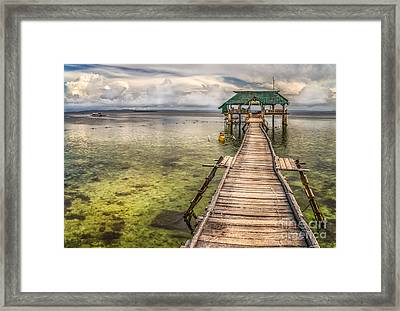 The Rickety Pier Framed Print by Adrian Evans