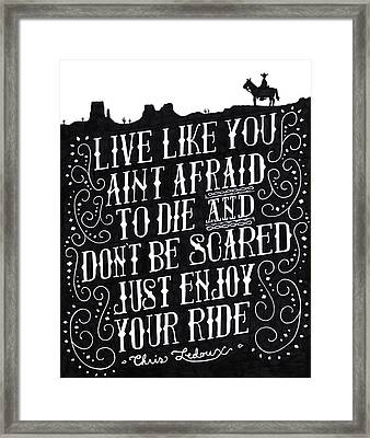 The Ride Framed Print by Noah Thompson