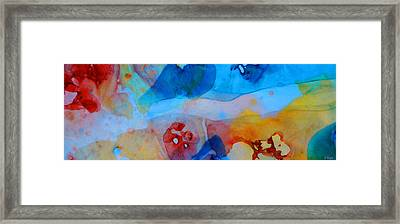 The Right Path - Colorful Abstract Art By Sharon Cummings Framed Print by Sharon Cummings