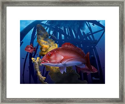 The Rigs Framed Print by Kevin Putman