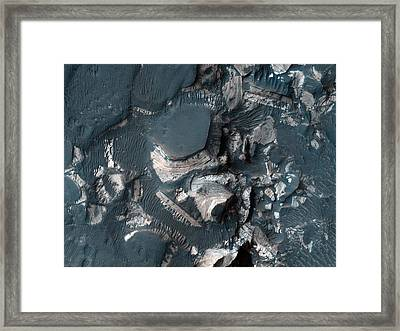 The Rim Of Holden Crater In Mars Framed Print by Celestial Images
