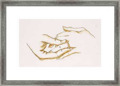 Marriage Proposal Framed Print featuring the drawing The Ring, 2007 by Stevie Taylor
