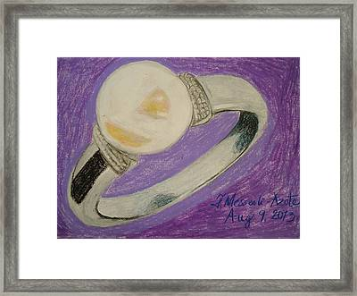 The Ring Framed Print by Fladelita Messerli-