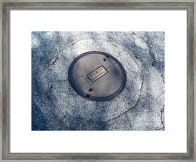 The Ripples Framed Print by Fei A