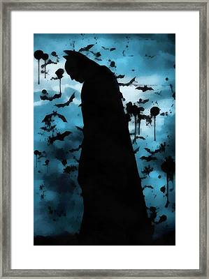 The Rise Of Batman Framed Print by Dan Sproul