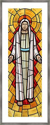 The Risen Christ Framed Print by Gilroy Stained Glass