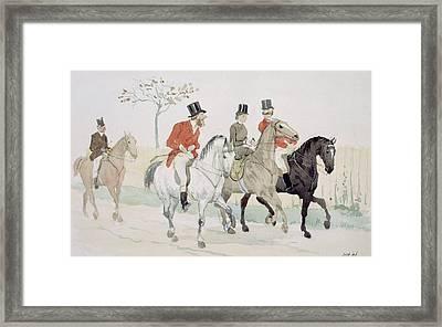 The Rivals Framed Print by Randolph Caldecott