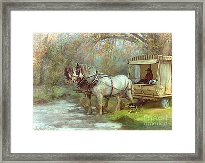 The River Crossing Framed Print by Trudi Simmonds