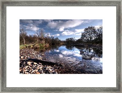The River Culm At Five Fords Framed Print by Rob Hawkins