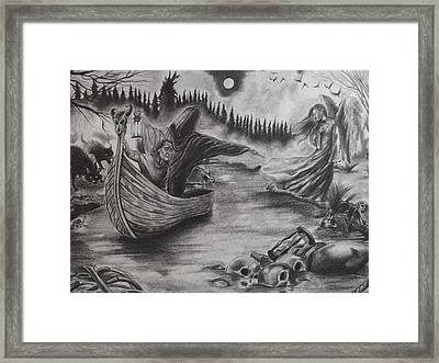 The River Of Deceit Framed Print by Amber Stanford