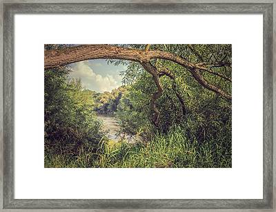 The River Severn At Buildwas Framed Print by Amanda Elwell