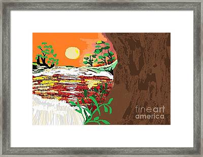 The River Framed Print by Sherry  Hatcher