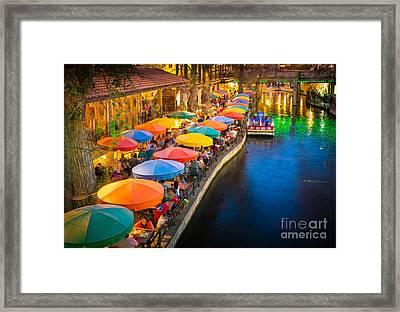 The Riverwalk Framed Print by Inge Johnsson