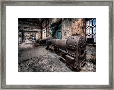 The Riveted Boiler Framed Print by Adrian Evans