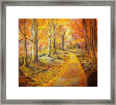 The Road Framed Print by B Russo