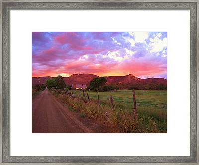 The Road Home Framed Print by Feva  Fotos