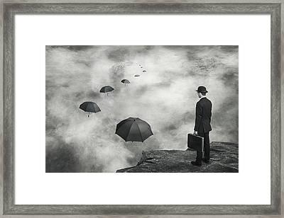 The Road Less Traveled Framed Print by Alain Villeneuve