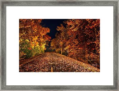 The Road Less Traveled - Blue Ridge Parkway I Framed Print by Dan Carmichael