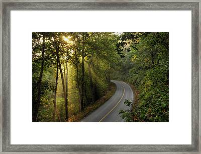 The Road Less Traveled Framed Print by Dan Myers