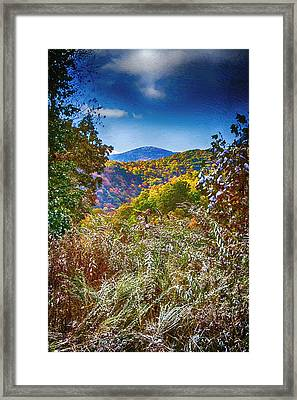 The Road To Cataloochee On A Frosty Fall Morning Framed Print by John Haldane